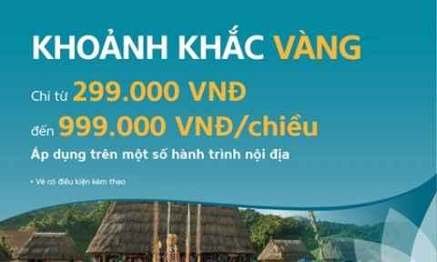 Vietnam Airlines: khuyến mãi giá vé nội địa từ 299 VNĐ