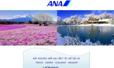 All Nippon Airways: Khuyến mãi đi Nhật chỉ 390 USD