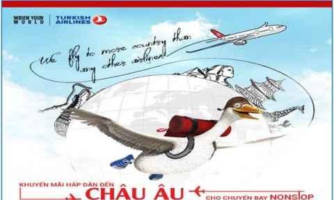 Turkish Airlines: Khuyến mãi vé máy bay đi Châu Âu