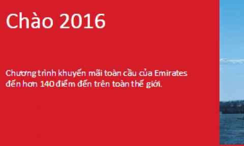 Emirates khuyến mãi toàn cầu từ 280 USD