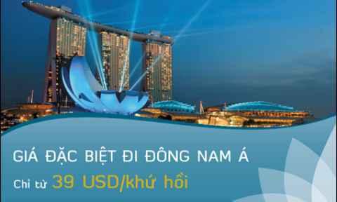 Vietnam Airlines: Giá Vé Đặc Biệt Đi Đông Nam Á Chỉ Từ 39 USD