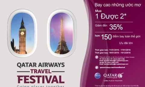Qatar Airways: Giảm 35% giá vé bay đến 150 điểm