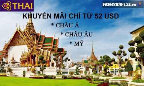 Thai Airways Khuyến Mãi Toàn Chặng Bay Chỉ Từ 52 USD