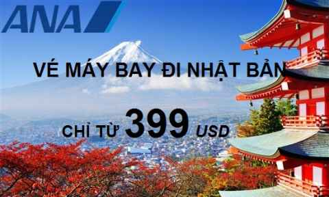 ANA Khuyến Mãi Đi Nhật Và Mỹ/Canada Chỉ 399 USD