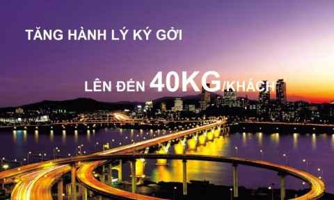 Tăng 40 Kg Hành Lý Đi Hàn Quốc