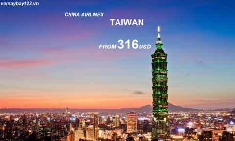 Vé Máy Bay China Airlines Đi Đài Loan Khuyến Mãi Chỉ Từ 316 USD