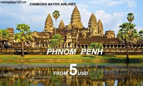 Vé Máy Bay Đi Phnom Penh Khuyến Mãi Chỉ Từ 5 USD