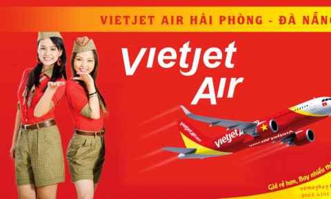 Vietjet Air mở tuyến bay mới Hải Phòng - Đà Nẵng