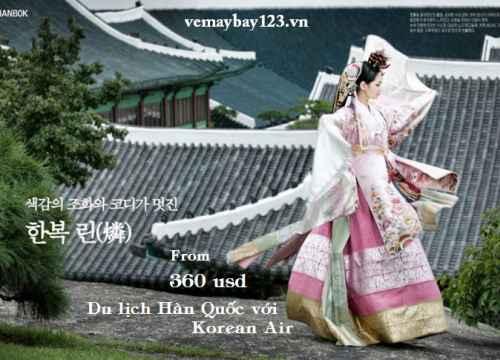 Korean Air khuyến mãi Vé Máy Bay đi Hàn Quốc giá chỉ từ 360$$