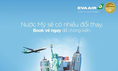 Vé máy bay đi New York 2019 EVA Air