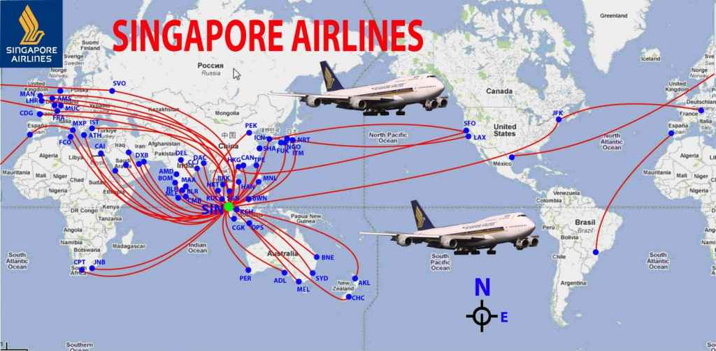Singapore-Airlines-Route-Map