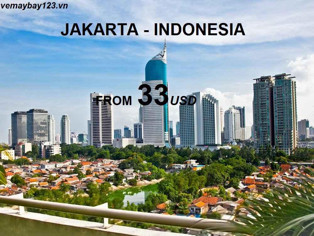 vé máy bay đi jakarta indonesia giá rẻ